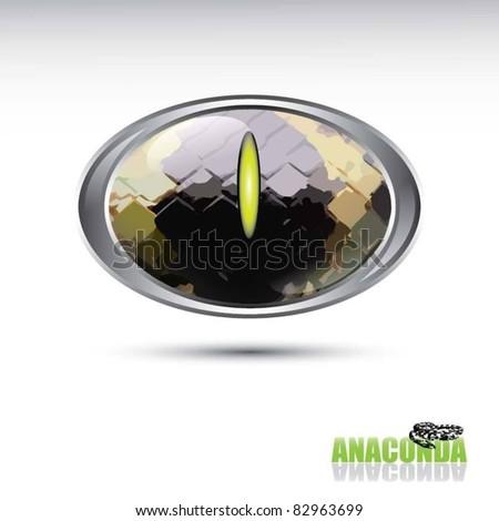 anaconda button - stock vector