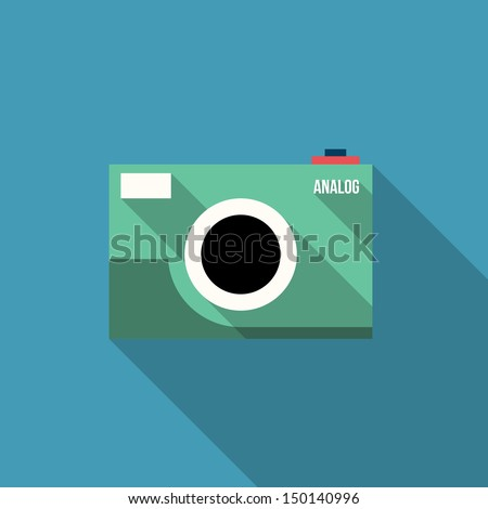 Analog Camera Easy Picture - Vector Illustration - Flat Design - Infographic Element - stock vector