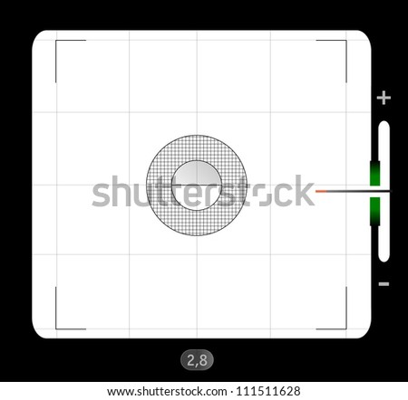 analog medium format viewfinder screen, with free space for your pics, vector