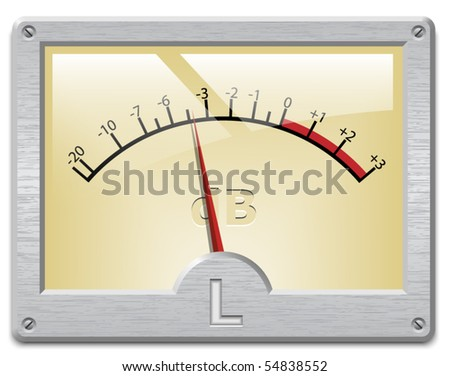 Analog signal meter on white background, vector illustration