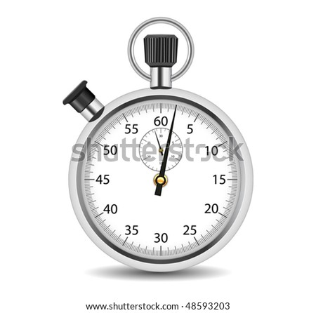 Analog stop watch - stock vector