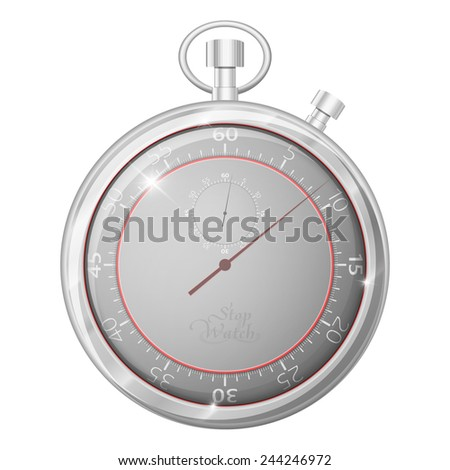 Analog Stopwatch. Set of Timers with Various Indications the Time. Timer. Clock - stock vector