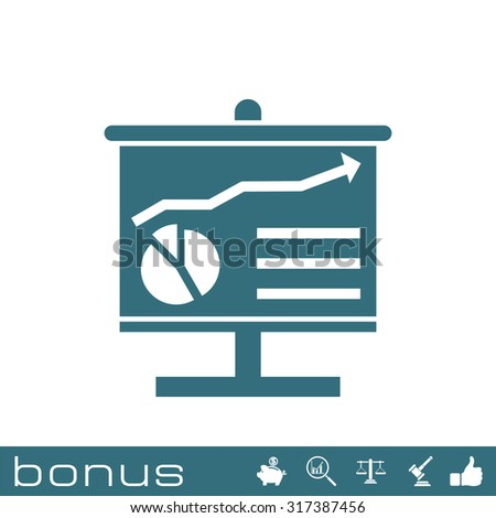 analysis board icon - stock vector