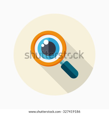Analysis icon, vector illustration. Flat design style with long shadow,eps10 - stock vector