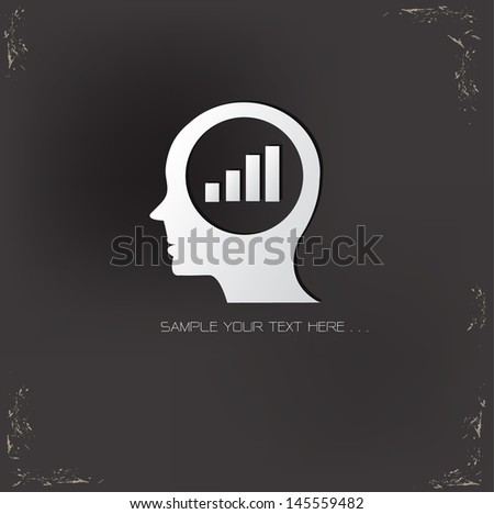 Analysis ideas symbol,vector - stock vector