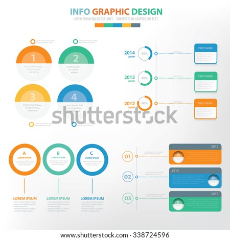 Analysis Infographic elements design,clean vector - stock vector