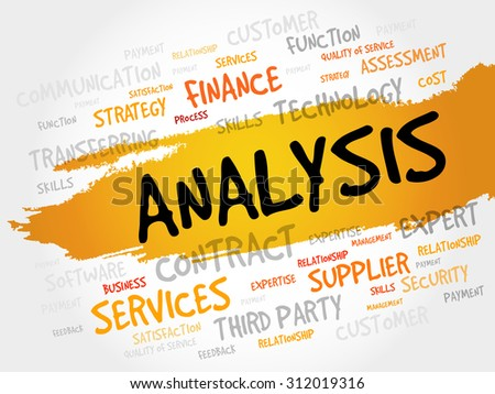 ANALYSIS word cloud, business concept - stock vector