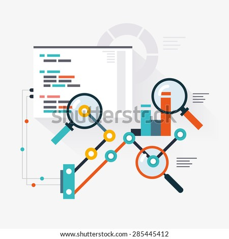 Analytical engine of website optimization - stock vector