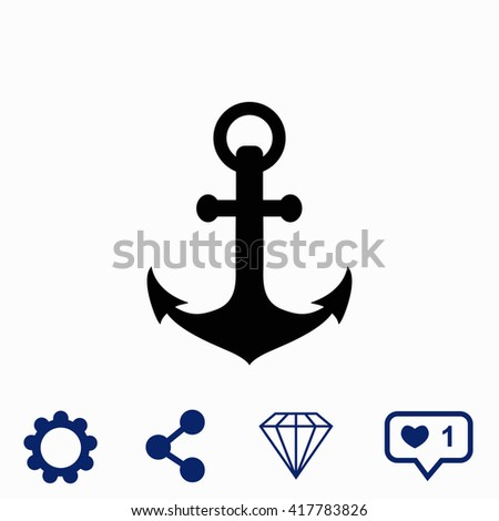 Anchor icon. Universal icon to use in web and mobile UI - stock vector