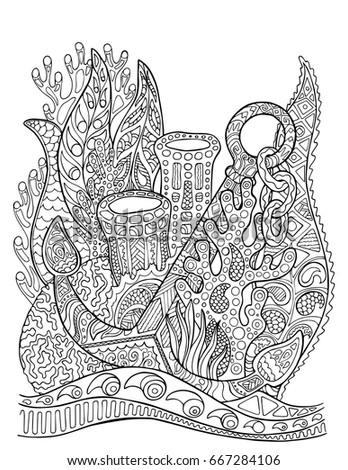 Elephant Jungle Coloring Page Mandala