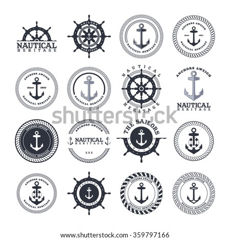 anchor sailor - nautical symbol theme - stock vector