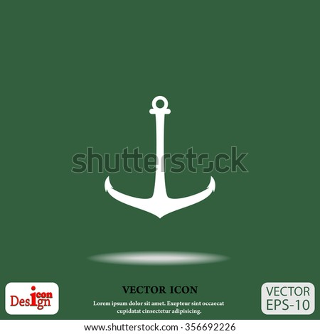anchor vector icon - stock vector
