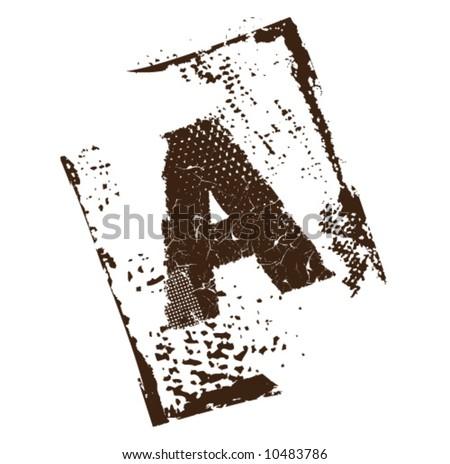 Ancient_A - stock vector