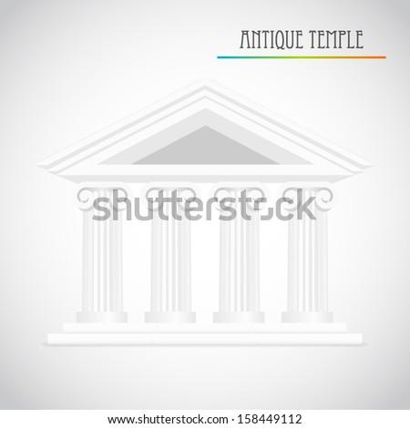 ancient columns vector - stock vector