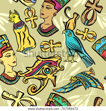 Ankh stock images royalty free images vectors for Egyptian tattoo flash