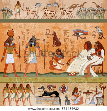 Cartoon egyptian temple pictures inspirational pictures for Ancient greek mural