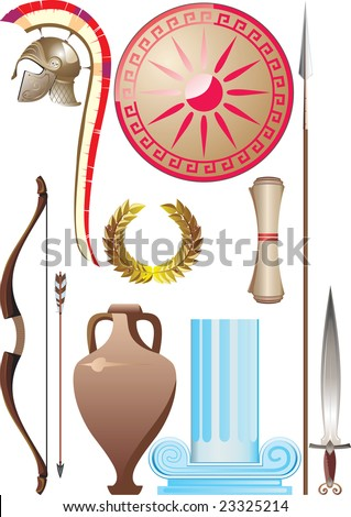 Ancient Greece set - stock vector