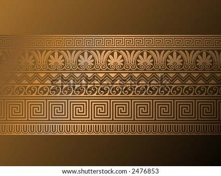 Ancient Greek art! - stock vector