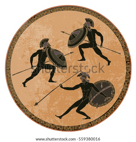 Greek vase stock images royalty free images vectors for Ancient greek mural