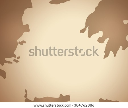 ancient map with gradient brown background and no line - stock vector