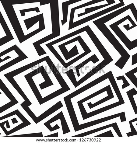 ancient monochrome seamless texture - stock vector