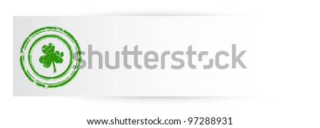 Ancient Patrick's Day Banner - stock vector