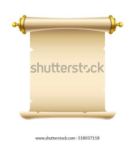 ancient scroll illustration place your text stock vector 518037118