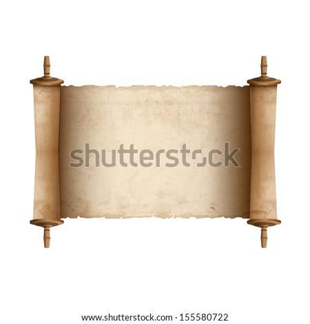 Ancient scroll. Vector illustration - stock vector