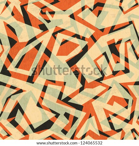 ancient seamless pattern with grunge effect - stock vector