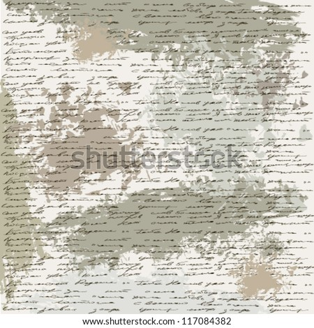 ancient text - stock vector