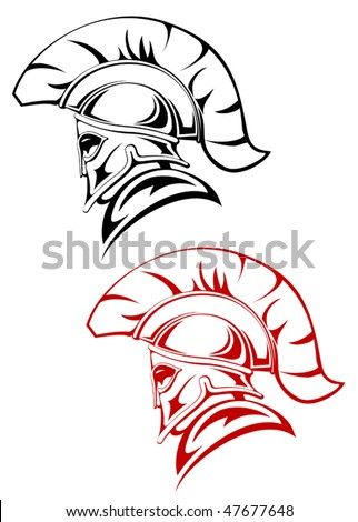 Ancient warrior symbol as a concept of security or power - also as emblem. Jpeg version is also available - stock vector