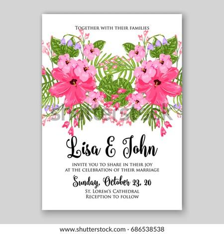 Anemone wedding invitation vector template stock vector 686538538 anemone wedding invitation vector template stopboris Images