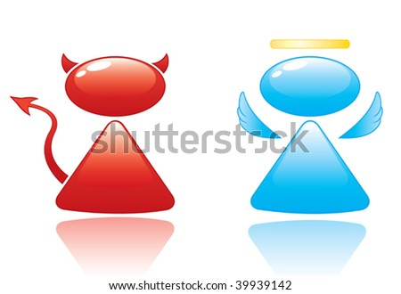 Angel and Devil Vector Icons