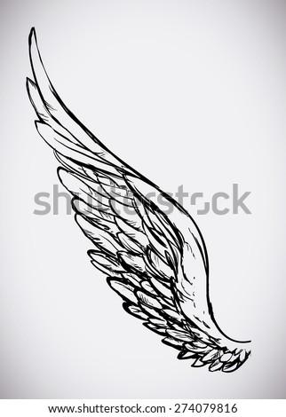 Angel design over white background, vector illustration, - stock vector