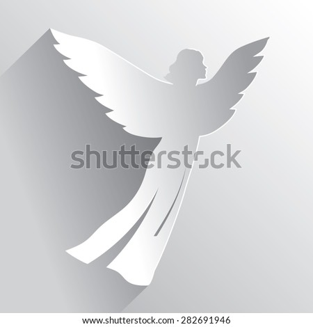 Flying Angel Silhouette