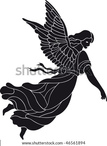 Angel vector - stock vector