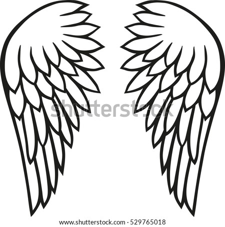 angel wings stock vector 529765018 shutterstock rh shutterstock com angel wings vector art angel wing vector free download