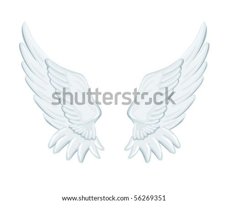 angel wings - stock vector