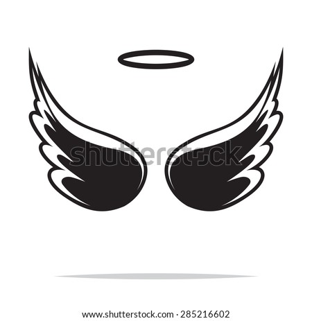 Angel wings vector illustration - stock vector