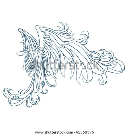 Angelic Wings - stock vector