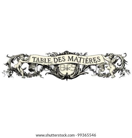 "Angels banner - Vintage engraved illustration - ""La mode illustree"" by Firmin-Didot et Cie in 1897 France - stock vector"