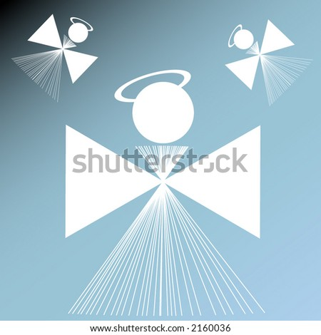 angels illustrated - stock vector