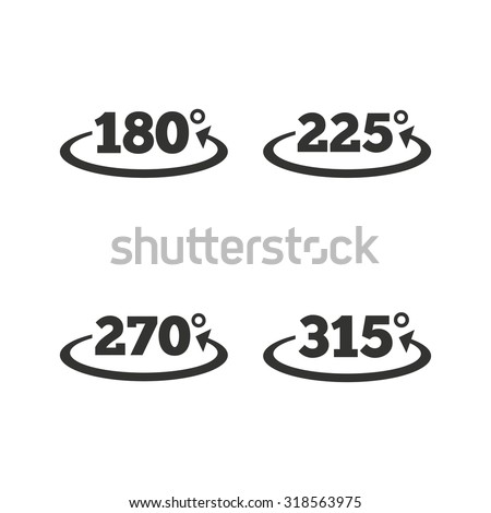 Angle 180315 Degrees Icons Geometry Math Stock Vector 2018