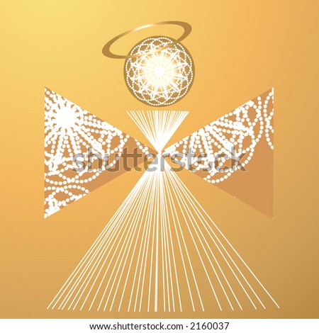 angle illustrated - stock vector