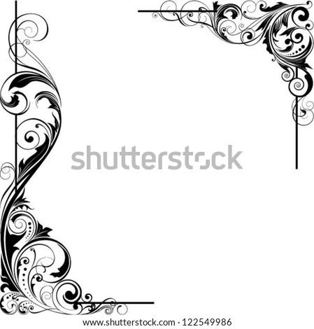 Angle leaf design - stock vector