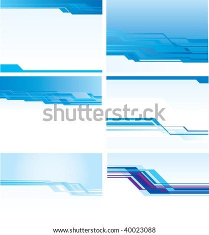 angle vector background set - stock vector