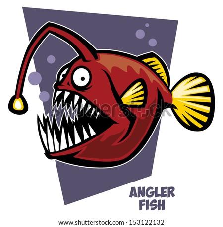 Angler fish - stock vector