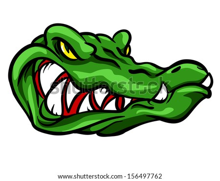 Angry Alligator mascot - stock vector