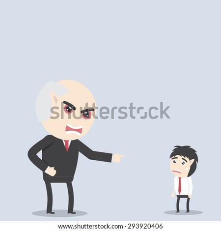 Angry boss - stock vector