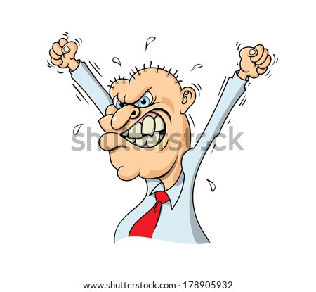 Angry Businessman - stock vector